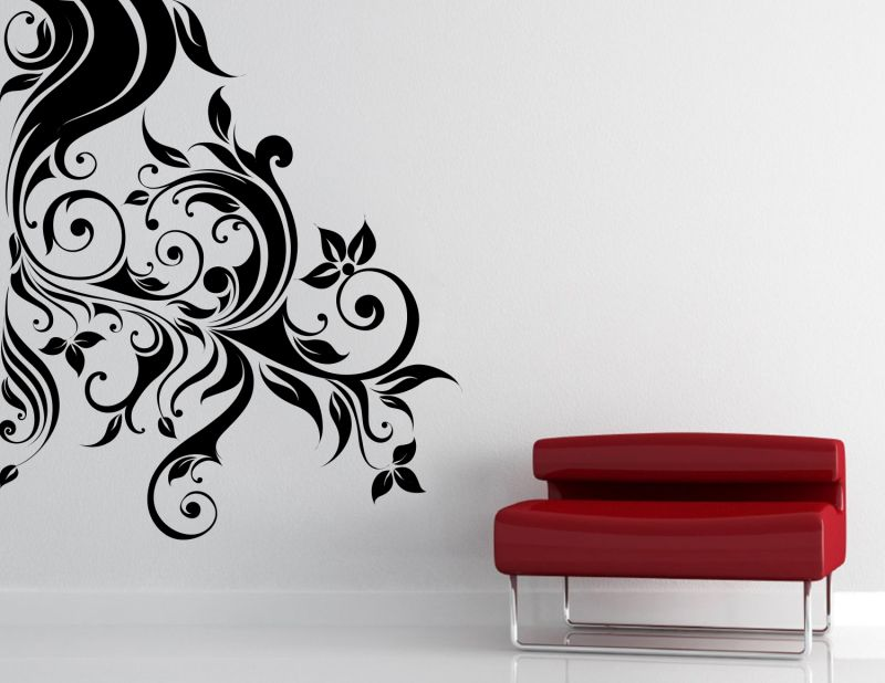 Buy Decor Kafe Decal Style Sided Swirl Design Wall Sticker Online
