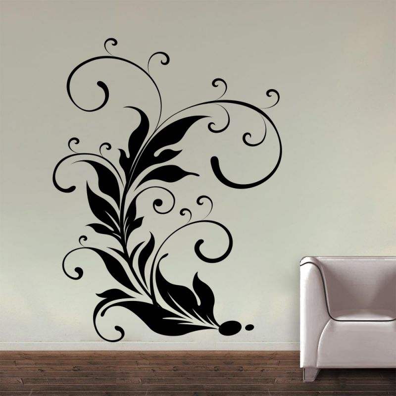 Buy Decor Kafe Decal Style Leaf Swirl Wall Sticker online