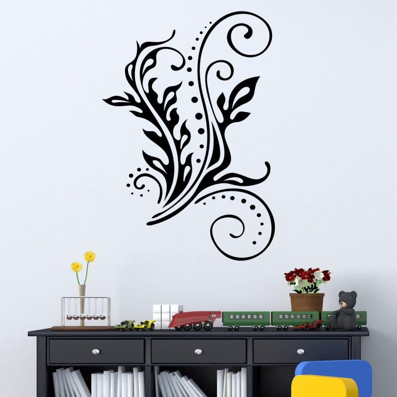 Buy Decor Kafe Decal Style Swirl Leaf Wall Sticker online