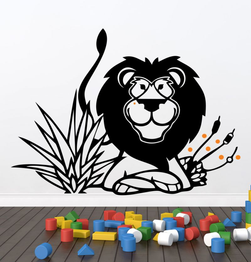 Buy Decor Kafe Decal Style Lion Wall Sticker online