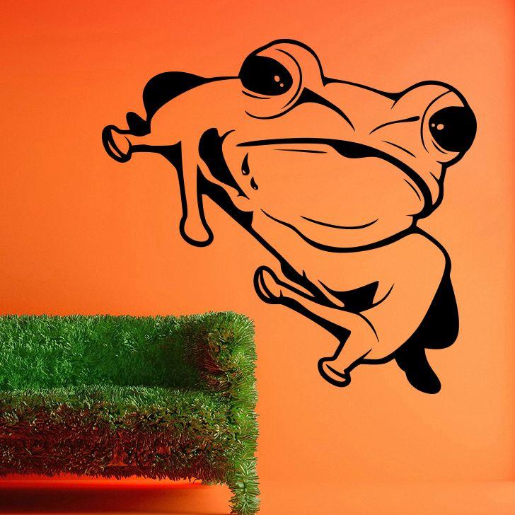 Buy Decor Kafe Decal Style Frog Medium Wall Sticker online