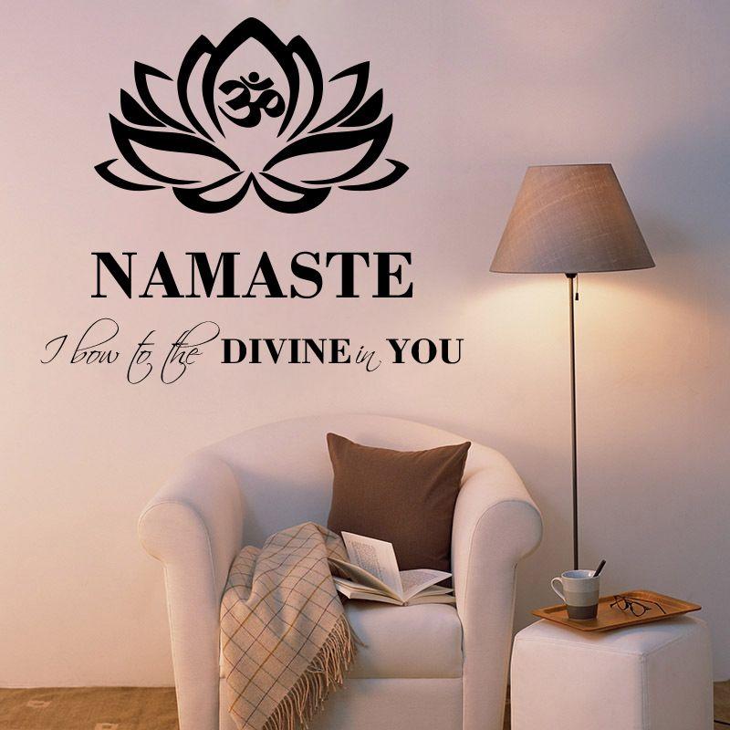 Buy Decor Kafe Decal Style Namaste Wall Sticker online
