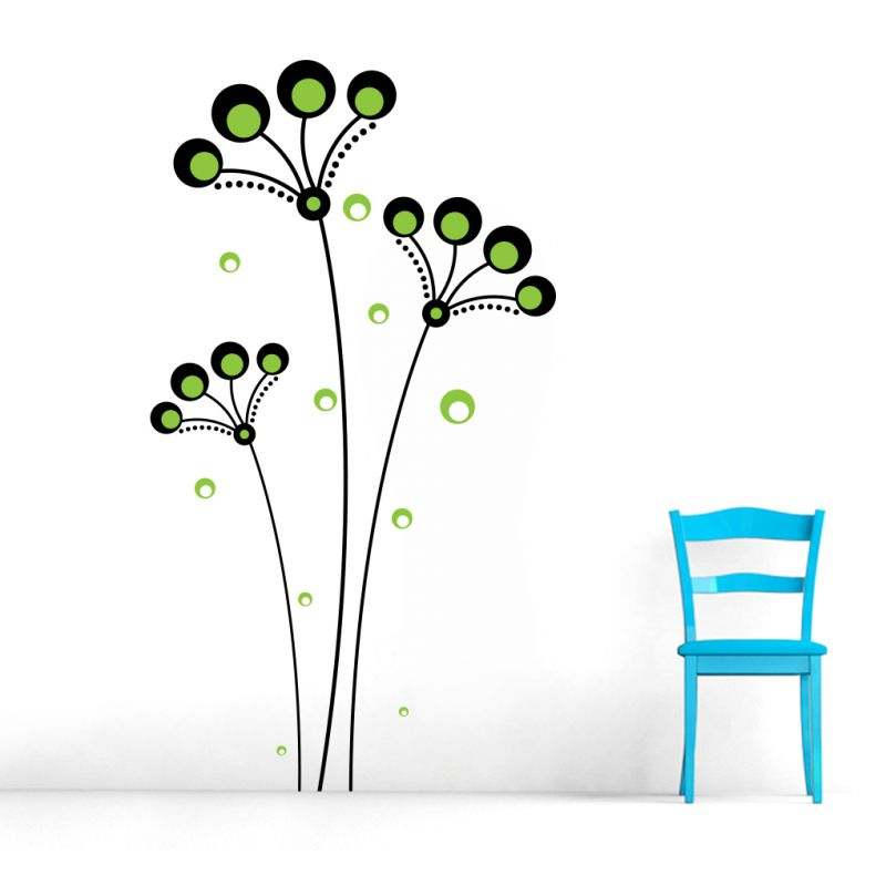 Buy Decor Kafe Decal Style Green Tree Floral Wall Sticker online