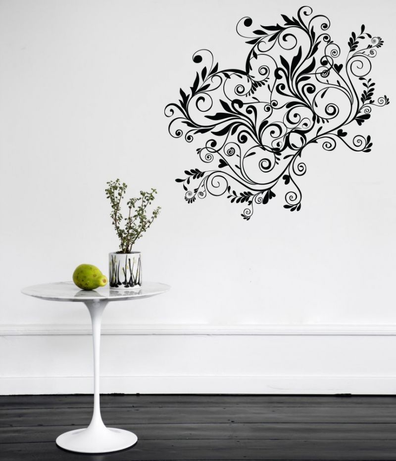 Buy Decor Kafe Decal Style Creative Floral Wall Sticker online
