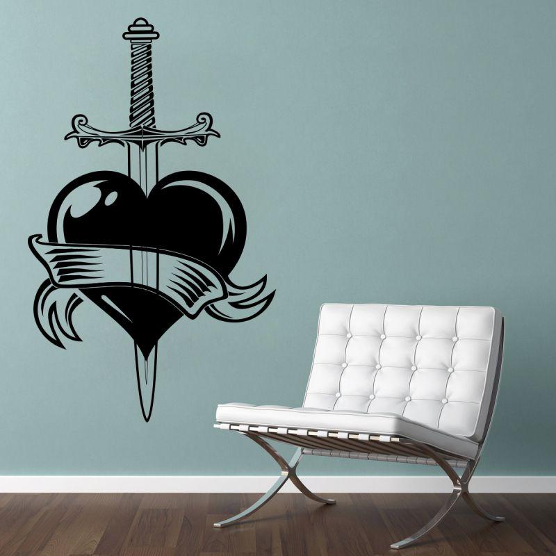 Buy Decor Kafe Decal Style Heart Wall Sticker online