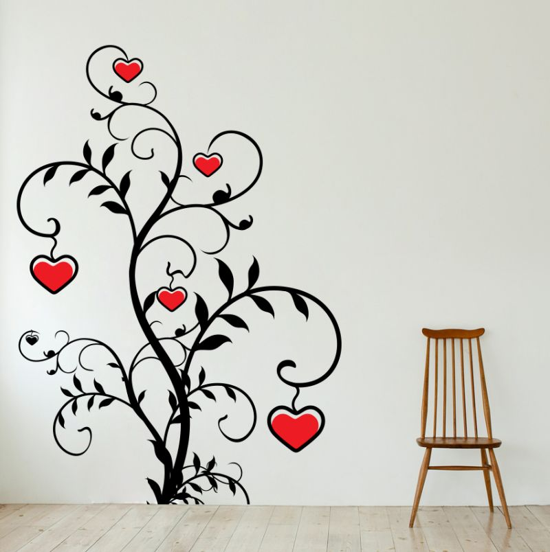 Buy Decor Kafe Decal Style Love Shaped Tree Wall Sticker online