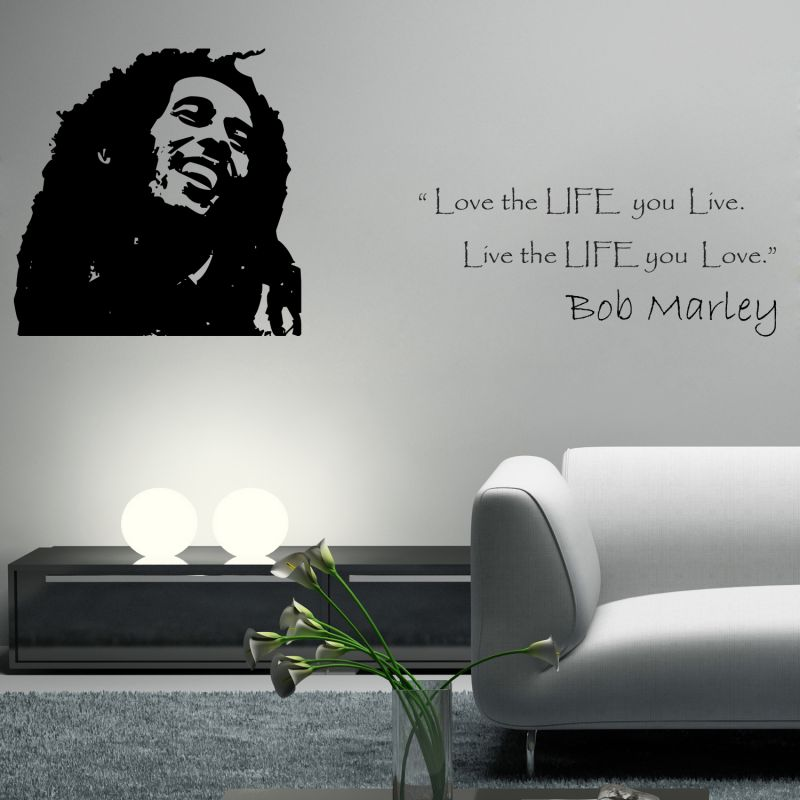 Buy Decor Kafe Decal Style The Legend Bob Marley Wall Sticker online