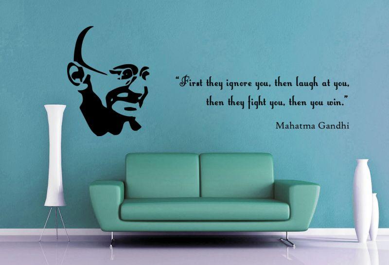 Buy Decor Kafe Decal Style The Legend Gandhi Ji Wall Sticker online