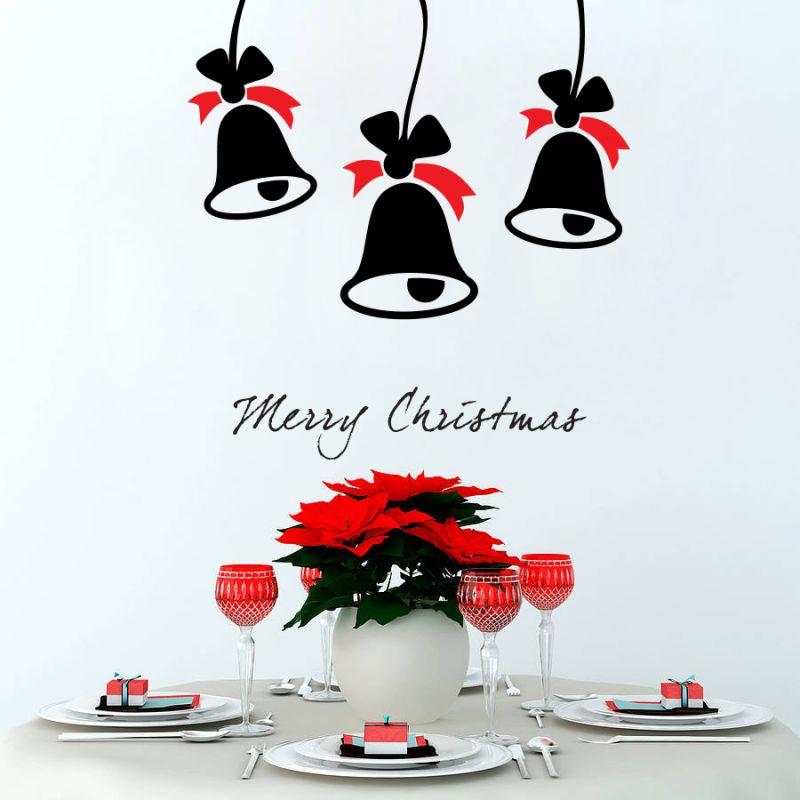 Buy Decor Kafe Decal Style Christmas Bells Wall Sticker online
