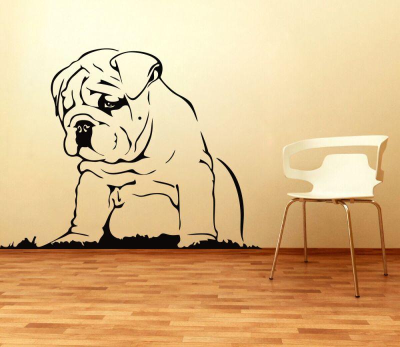 Buy Decor Kafe Decal Style Elegant Pug Wall Sticker online