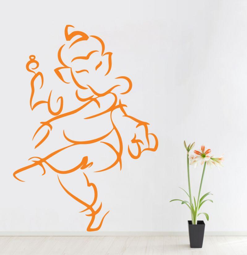 Buy Decor Kafe Decal Style Ganesha Wall Sticker online