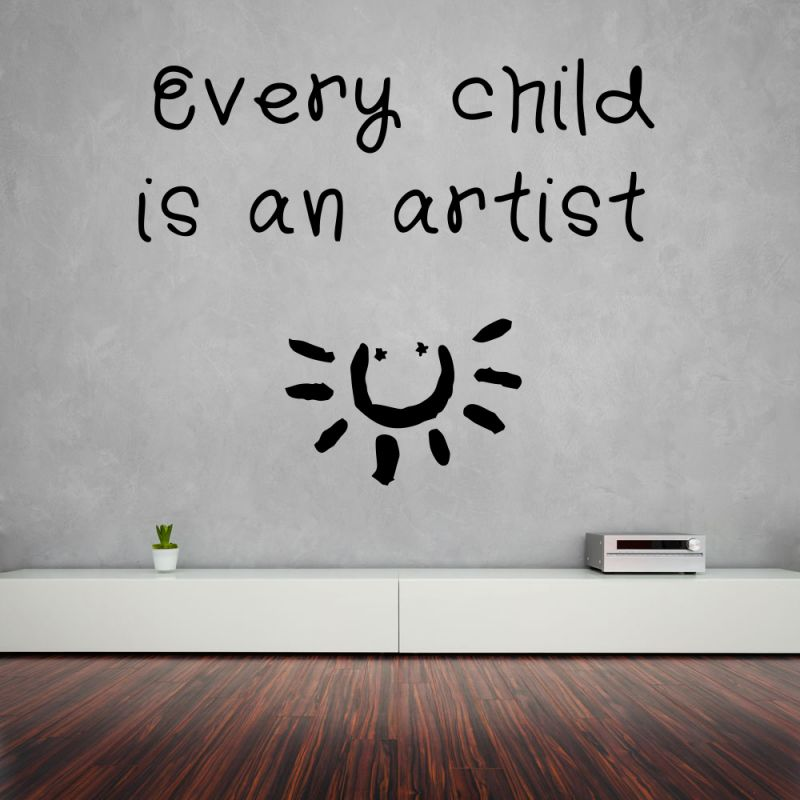 Buy Decor Kafe Decal Style Child Is An Artist Large Wall Sticker online