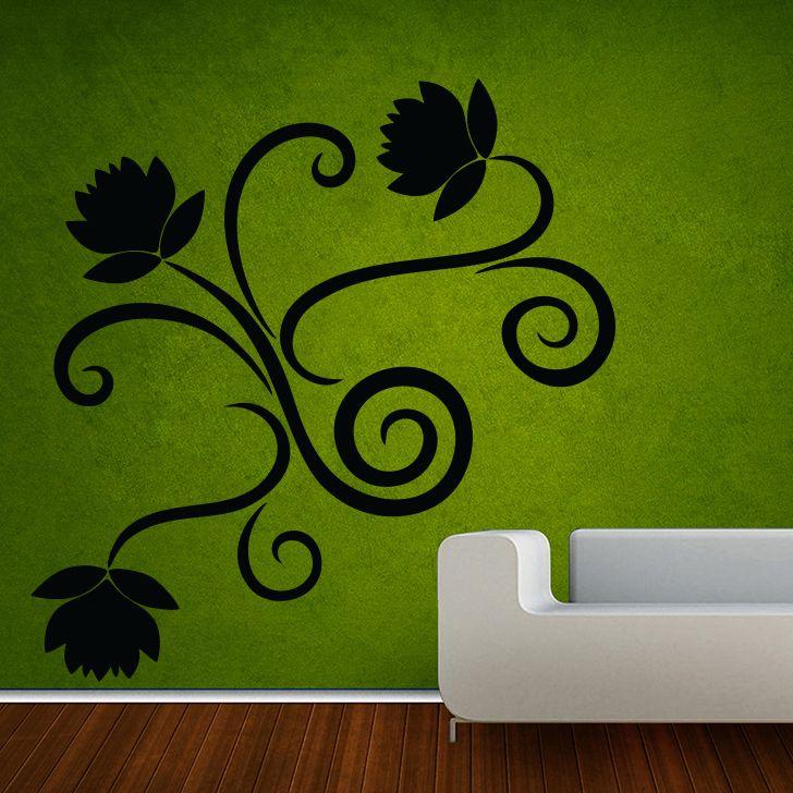 Buy Decor Kafe Decal Style Swirl Design Large Wall Sticker online