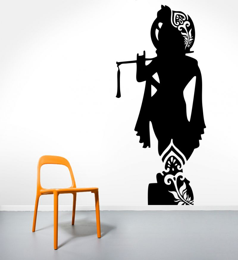 Buy Decor Kafe Decal Style Shree Krishna Medium Wall Sticker online
