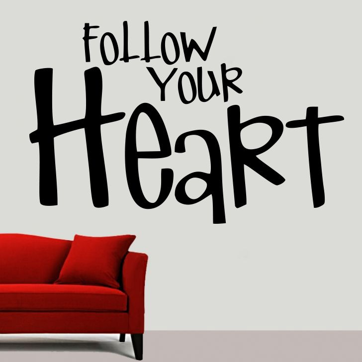 Buy Decor Kafe Decal Style Follow Your Heart Large Wall Sticker online