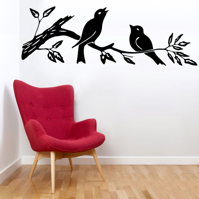 Buy Decor Kafe Decal Style Sparrow On Branch Large Wall Sticker online