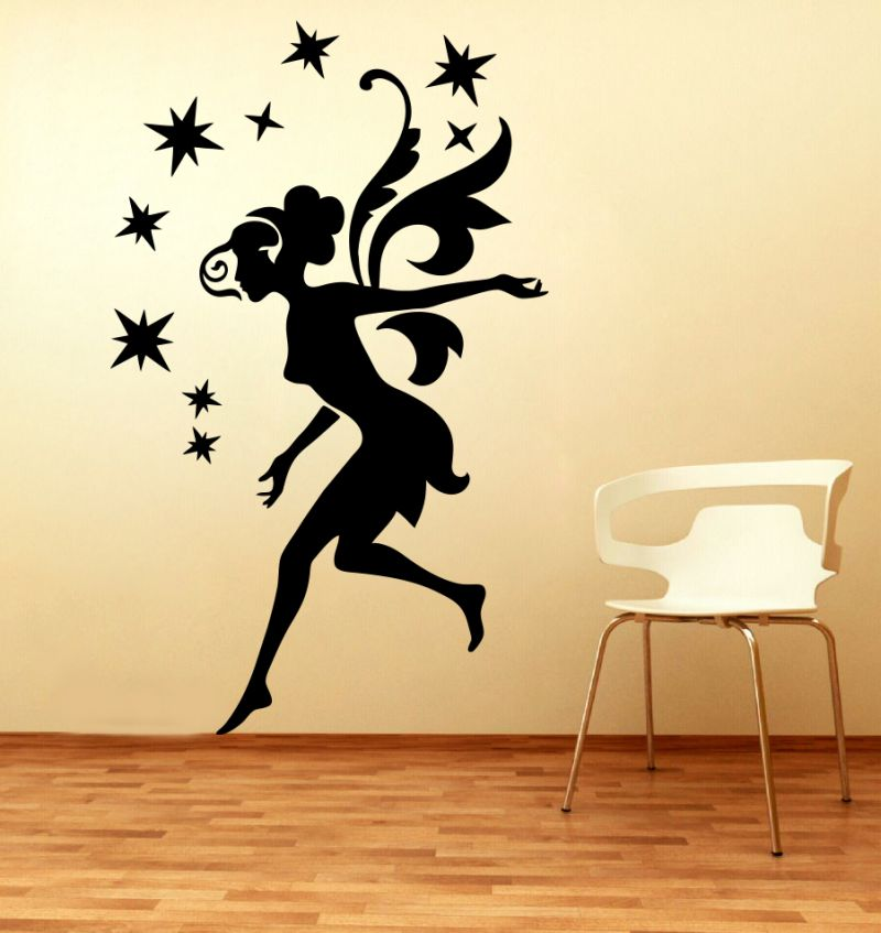 Buy Decor Kafe Decal Style Fairy Stars Small Wall Sticker online