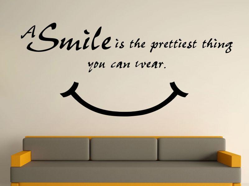 Buy Decor Kafe Decal Style Smile Is Pretty Medium Wall Sticker online