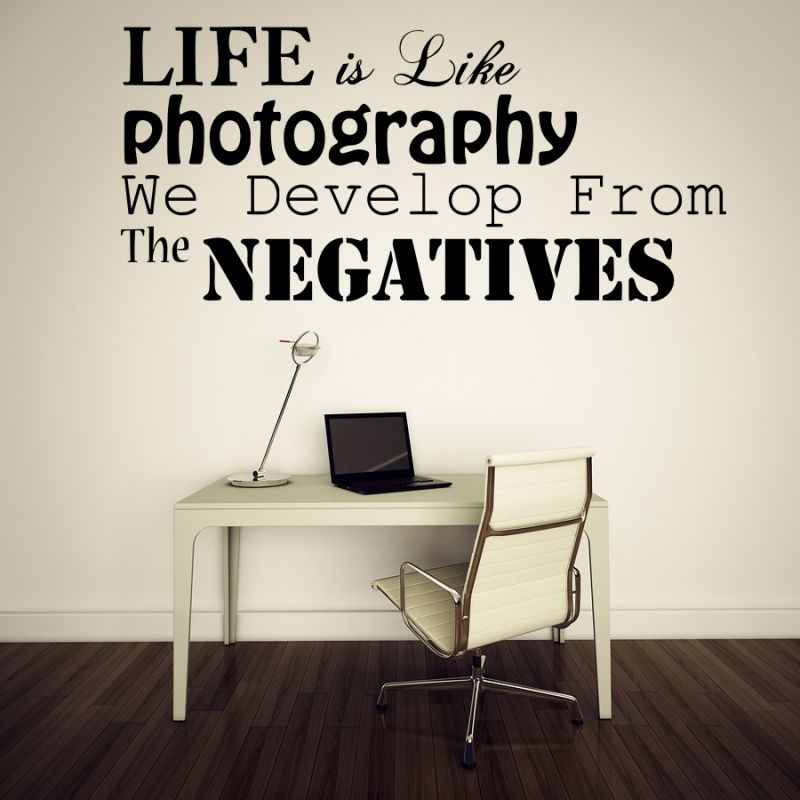 Buy Decor Kafe Decal Style Life Is Photography Medium Wall Sticker online