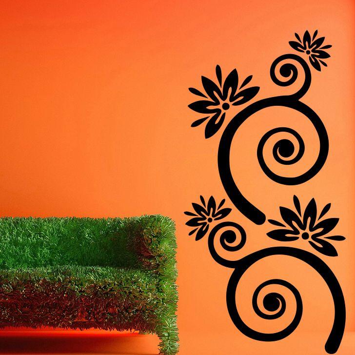 Buy Decor Kafe Decal Style Swirl Large Wall Sticker online