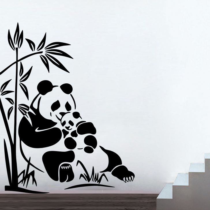 Buy Decor Kafe Decal Style Panda Small Wall Sticker online