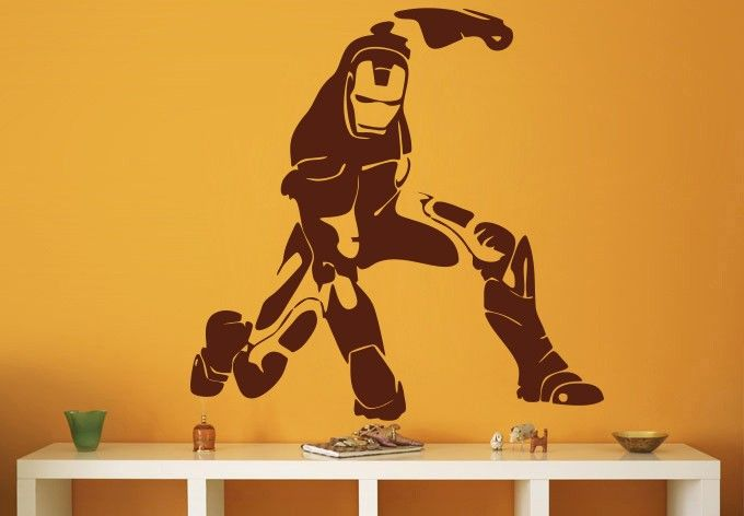 Buy Decor Kafe Iron Man Abstract Wall Decal Online Part 39