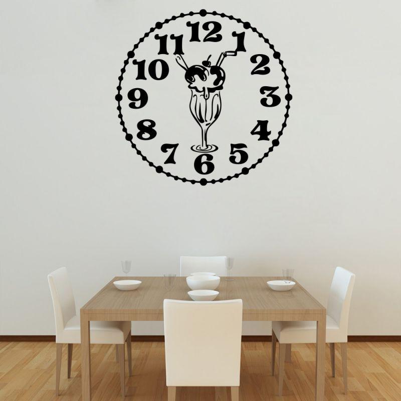 Buy Decor Kafe Decal Style Knickerbocker Glory Clock Large Wall Sticker online