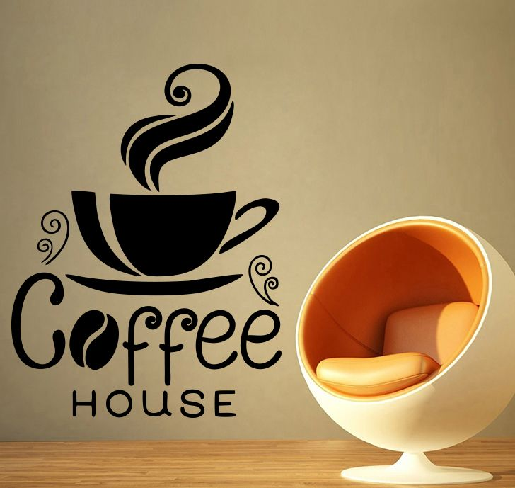 Buy Decor Kafe Decal Style Coffee House Medium Wall Sticker online