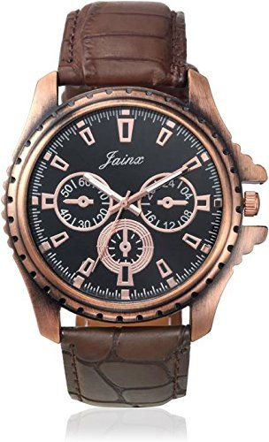 Buy Jainx Chronograph Pattern Black Dial Analog Watch For Men & Boys - Jm178 online