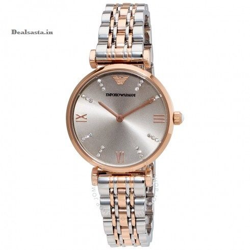 Buy Imported Emporio Armani Ar1840 Rare Retro Style Dual Tone Watch For Women online