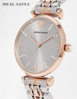 78d0ed52080 Imported Emporio Armani Rare Retro Style Dual Tone Watch For Women. 22%