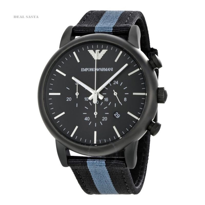 Buy Imported Emporio Armani Luigi Chronograph Black Dial Men's Watch online