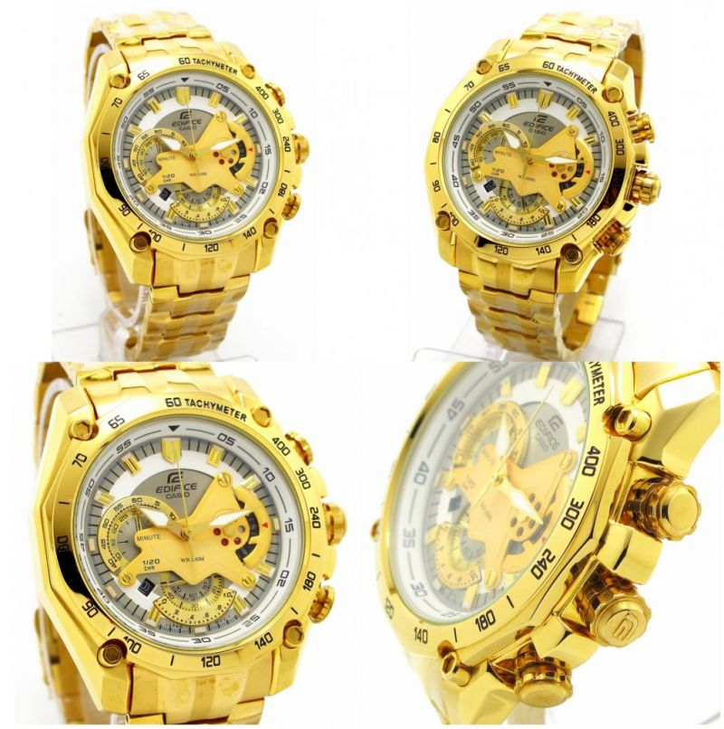 buy casio 550 white dial full gold chain watch for men online casio 550 white dial full gold chain watch for men close