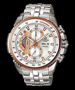 buy casio 558 white and copper dial silver chain watch for chain watch for men close