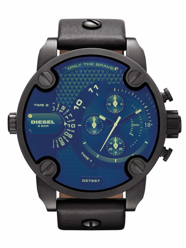 Buy Diesel The Daddie Analog Chronograph Blue Dial Watch For Men - Dz7257 online