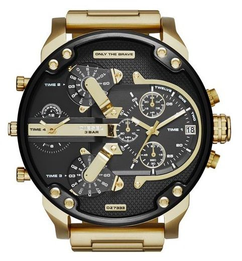 Buy Imported Diesel Dz7333 Mr.daddy 2.0 Black Gold Dial Quartz Men's Watch - 2 Years Warranty online