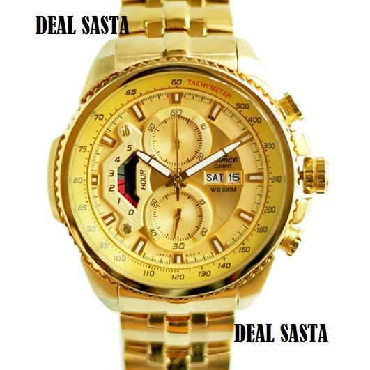 casio watches gold color best watchess 2017 imported casio edifice 558 full gold watch for men