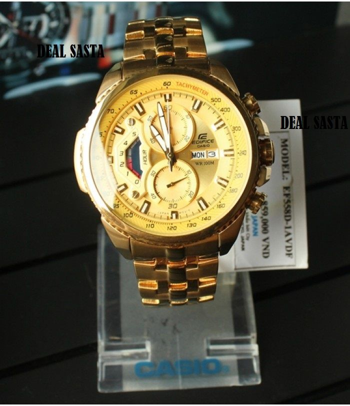 buy imported casio edifice 558 full gold watch for men online buy imported casio edifice 558 full gold watch for men online best prices in rediff shopping