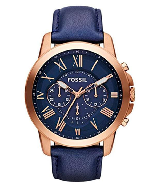 Buy Imported Fossil Grant Blue Dial Men'S Watch online