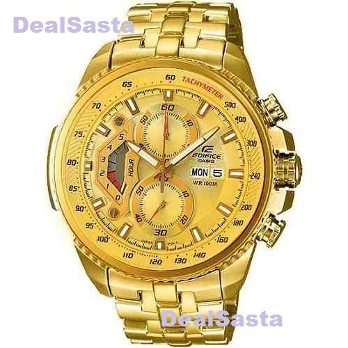 Buy Imported Casio Edifice  Full Gold Watch For Men online