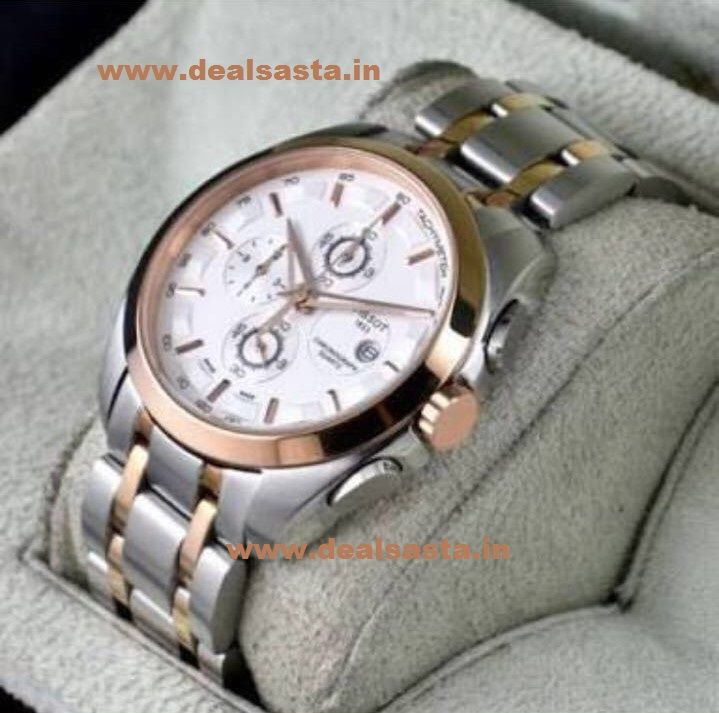 Buy Imported Tissot Couturier Chronograph Luxury Dual Tone Watch For Men online