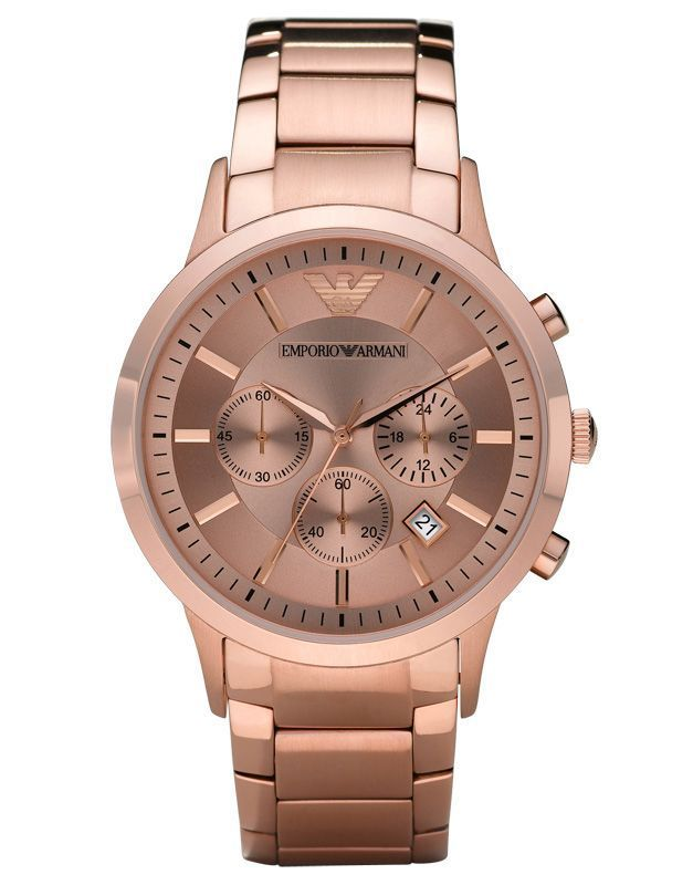Buy Imported Men'S Chronograph  Rose Dial Rose Gold Stainless Steel Watch online