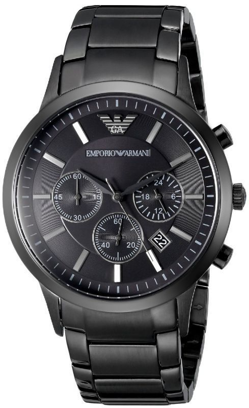 Buy Imported Armani Watches  Gents Black Stainless Steel Watch$Ar2453 online