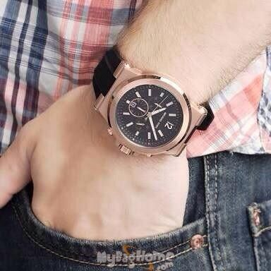 ad57365370e55 ... Buy Michael Kors Black Rubber Chronograph Mens Watch Online Best Prices  in India Rediff Shopping ...