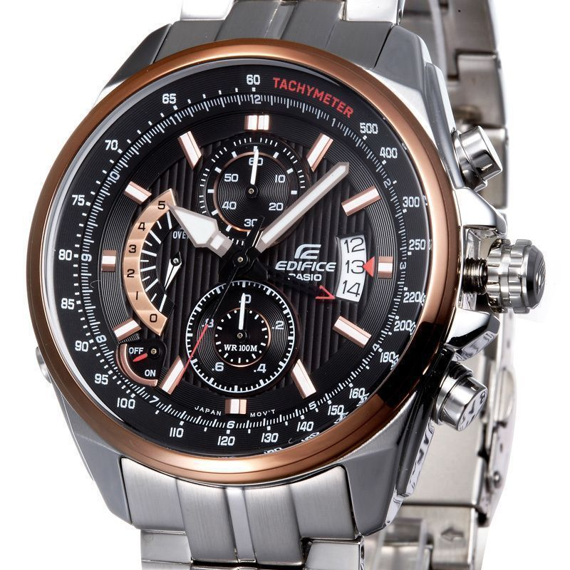 Buy Imported Casio 501d 1a5vdf Black/copper Dial Chronograph Watch For Men online