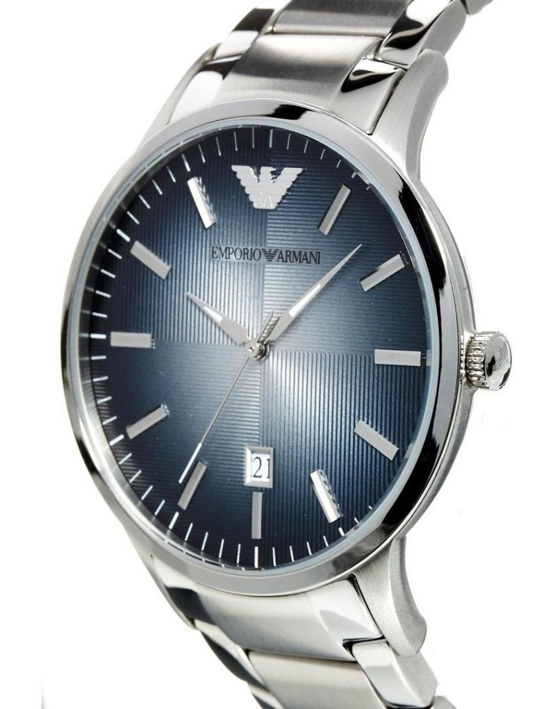Buy Imported Emporio Armani Sportivo Ar2472 Blue Dial Steel Strap Mens Watch online