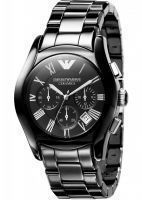 Buy Imported Emporio Armani Ar1400 Ceramic Black Mens Chronograph Wrist Watch online