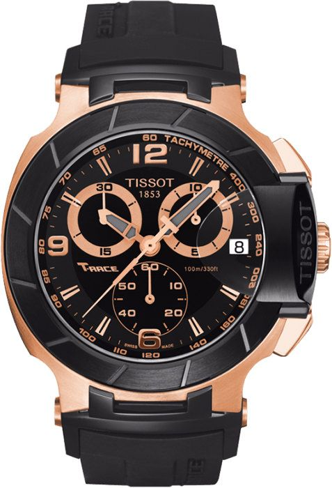 Buy Imported Tissot T-race Chronograph Rose Gold Black Men's Watch online