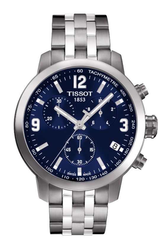 Buy Imported Tissot T171.586.42 Prc200 Chronograph Blue Men Wrist Watch online