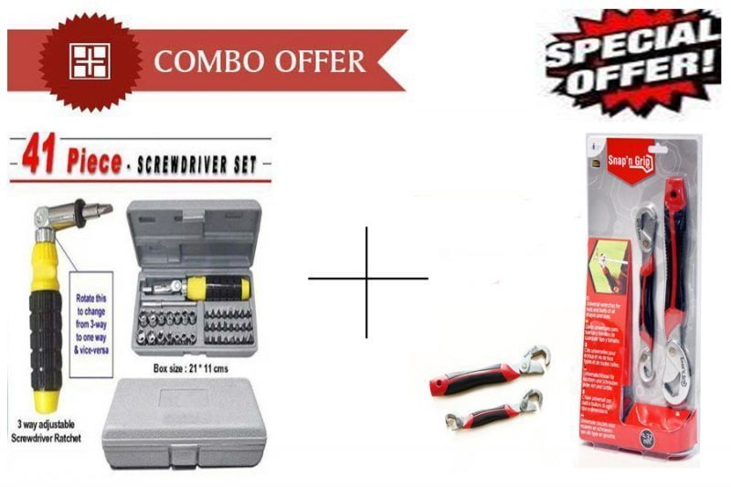 Buy Buy 41 PCs Tool Kit Screwdriver Set With Snap N Grip Multipurpose Wrench - online